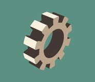 roue de la dent 3d Photos libres de droits