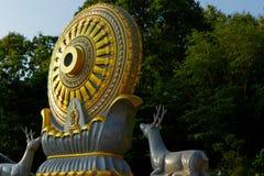Roue de la vie : Dhamma pour la libération images libres de droits