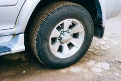 Roue de la voiture tous terrains image libre de droits