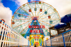 Roue de merveille de Coney Island Photo stock