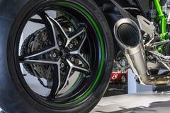 Roue de motocycle Photos libres de droits