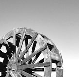Roue de palette - noir et blanc à angles images libres de droits