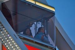 Roue de Parigi (ruota del traghetto) a Gand, Natale Fotografie Stock Libere da Diritti