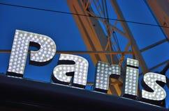 Roue de Parigi (ruota del traghetto) a Gand, Natale Fotografie Stock