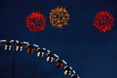Roue DE Parijs (veerbootwiel) in Gent, Kerstmis Stock Foto's
