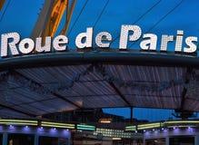 Roue de Paris (roda da balsa) em Ghent, Natal Fotografia de Stock