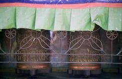 Roue de prière, Bodnath, Népal Photographie stock