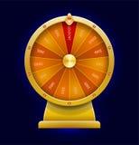 Roue de rotation de la fortune style 3d réaliste Photos libres de droits