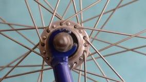Roue de rotation de vélo banque de vidéos