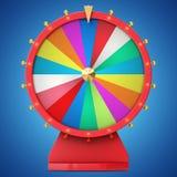 Roue de rotation réaliste de fortune, roulette chanceuse Roue colorée de la chance ou de la fortune Fortune de roue d'isolement s Photographie stock