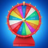 Roue de rotation réaliste de fortune, roulette chanceuse Roue colorée de la chance ou de la fortune Fortune de roue d'isolement s illustration libre de droits