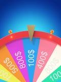 Roue de rotation réaliste de fortune, roulette chanceuse Roue colorée de la chance ou de la fortune Fortune de roue d'isolement s illustration stock