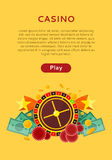 Roue de roulette, argent Chip Star Isolated de matrices de pièce de monnaie illustration de vecteur