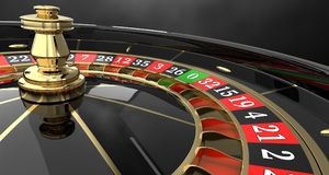 Roue de roulette de casino 3D Photographie stock libre de droits