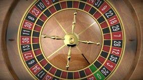 Roue de roulette de casino banque de vidéos