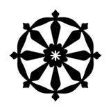 Roue de Samsara - symbole de réincarnation, le cycle de la mort et signe sacré de renaissance de toutes les religions indiennes illustration de vecteur