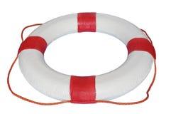 Roue de sauvetage de rouge et de blanc Photo libre de droits
