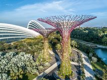Roue de Singapour Photos libres de droits