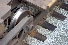 Roue de train Photo libre de droits