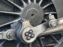 Roue de train de vapeur - plan rapproché Photos libres de droits