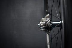 Roue de vélo avec chainring Photos stock