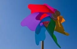 Roue de vent colorée Images stock