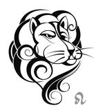Roue de zodiaque avec le signe de Lion. Photographie stock