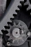 Roue dentée en acier noire Photographie stock