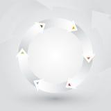Roue des flèches blanches Image libre de droits