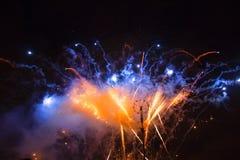 Roue du feu de feux d'artifice Images libres de droits