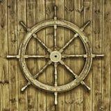 Roue en bois décorative de bateaux images stock