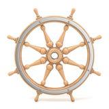 Roue en bois 3D de bateau Photos libres de droits