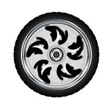 Roue et pneu de moto Photos libres de droits