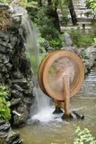 Roue hydraulique chez Wun Chuen Sin Kwoon en Hong Kong Photo stock