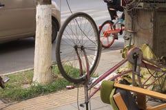 Roue inverse de vélo photo libre de droits