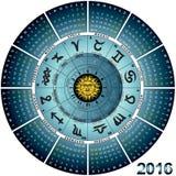 Roue italienne 2016 astral illustration stock