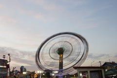 Roue mobile de Luna Park image libre de droits