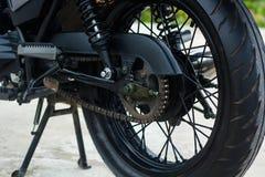Roue noire de moto de vintage Image stock