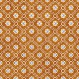 Roue orange et blanche de dos de Dharma Symbol Tile Pattern Repeat Photographie stock
