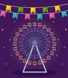 Roue panoramique du parc d'attractions illustration libre de droits