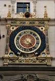 Rouen. Famous astronomical Gros Horloge clock in Rouen, France (Europe Royalty Free Stock Image