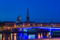 Rouen at asummer night Stock Images