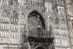 Rouen - Cathedral facade Royalty Free Stock Image