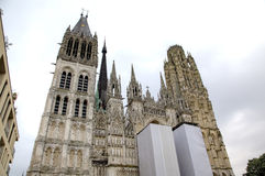 Rouen Cathedral. France Stock Images