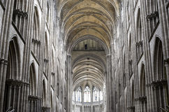Rouen - Cathedral interior Royalty Free Stock Photography