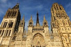 Rouen domkyrka Notre-Dame Royaltyfria Bilder