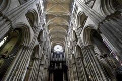 Rouen - domkyrkainterior Royaltyfria Foton