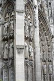 Rouen - domkyrkayttersida Arkivfoton