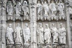 Rouen - domkyrkayttersida Royaltyfri Bild