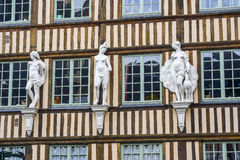 Rouen - Exterior of ancient house royalty free stock photography